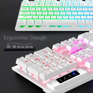 Ergonomic design, ergonomics Arc keycap, smooth lines, comfortable feeling, and anti-fatigue.