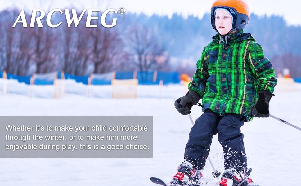 Greneric Kinderhandschuhe wasserdicht Ski warm Prinzessin Aisha Jungen und Kleinkinder im Freien Spielen Schnee Spider-Man Baby Winddicht 9233 Deep Blue Team