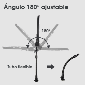 ángulo ajustable