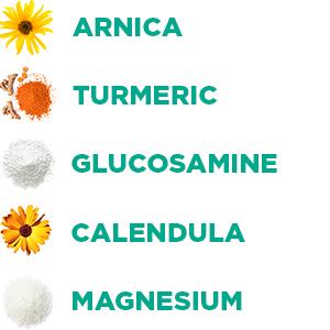 arnica, turmeric, calendula,