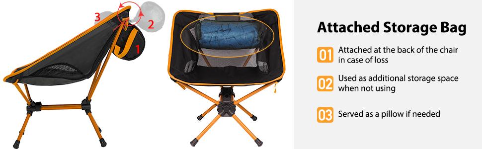 Ubon Lightweight Foldable Camping Chair