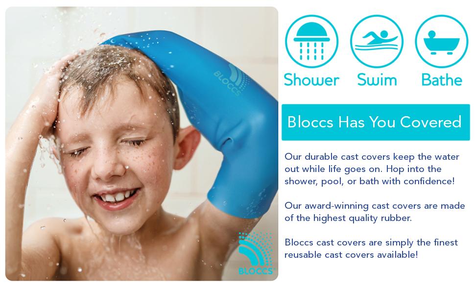 Bloccs, cast cover, waterproof, dressing protector