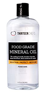 Thirteen Chefs Food Grade Mineral Oil 12 Ounces Made in the USA