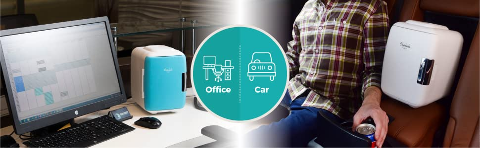 office car vehicle lunch food snacks road trip portable mini-fridge thermoelectric cooler warmer