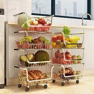 4 Layer Metal Kitchen Storage Organizer