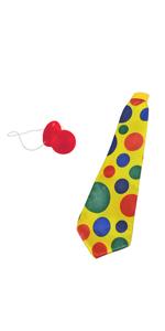 Jumbo Clown Polka Dot Foam Long Tie