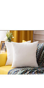 MIULEE Decorative Square Throw Pillow Covers Set Cushion Case Sofa Bedroom Car beige white