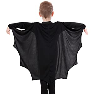 Details about  /Children Glitter Black Bat   Halloween Angel Fancy Dress Costume Accessories