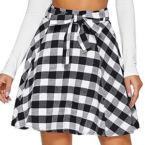 women plaid skirts