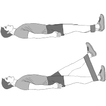 Straight Leg Lift Exercise Bands Abs Thighs Butt