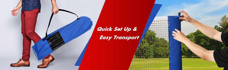quick set up amp; easy transport