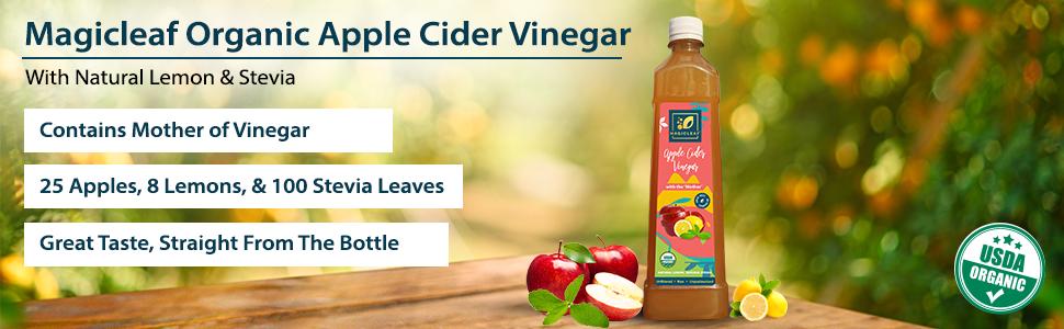 Magicleaf Organic Apple Cider Vinegar Lemon and Stevia