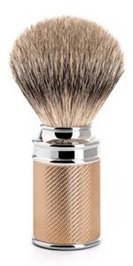 Muhle Traditional Silvertip Badger shaving brush rosegold