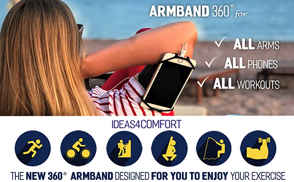 360 universal sports running armband for all phones  fitness arm for iphone 8 plus  men galaxy s9n