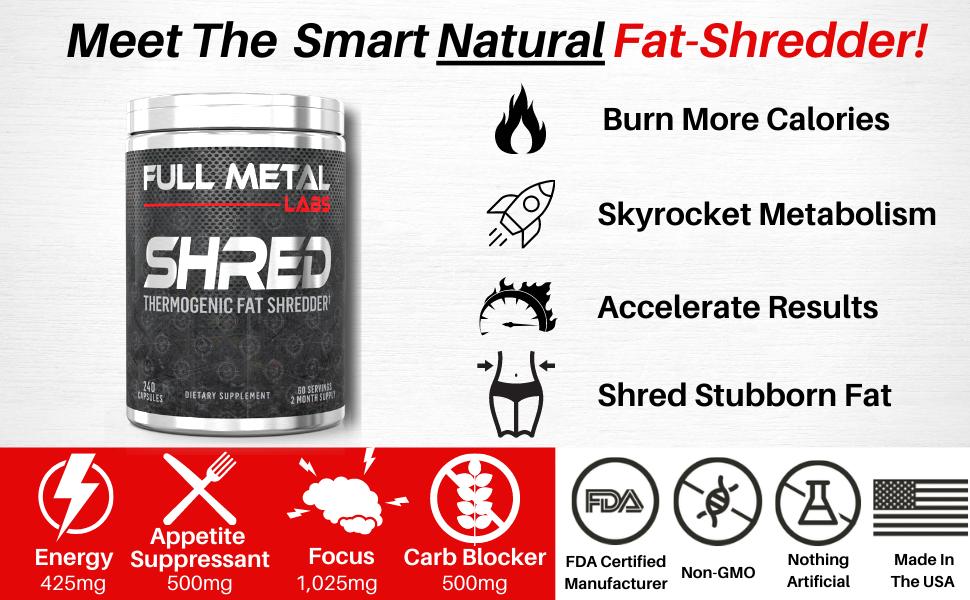 Shred Fat Burner Full Metal Labs Shred Supplement