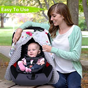 baby cover canopy for car seat girl car seat cover car seat infant girl