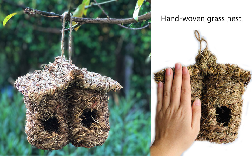 5x Bird Nest Box Wild Life Hanging Pocket House Cold Weather Rest for Birds