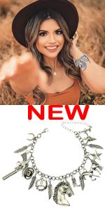 Western charms Bracelet for women