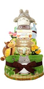 おむつケーキ 出産祝い トトロ