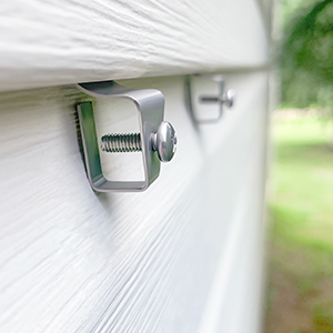wire free security camera system siding hanger