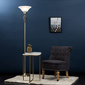Floor Lamp, Antique Brass Floor Lamp, Living Room Lamps, House Lamp, Vitange Floor Lamp