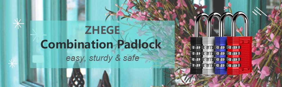 zhege combination lock 4 digit combination padlock locker padlocks gym locker padlock outdoor lock