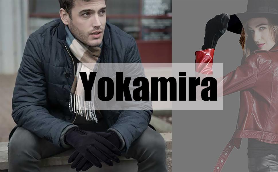 yokamira Guanti Invernali Antivento Termici Impermeabili per Uomo e Donna
