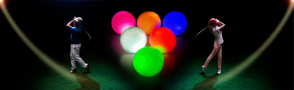 THIODOON Glow LED Golf Balls