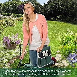 Gartenhocker für Arbeiten um Haus und Garten