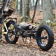"""QuietKat FatKat Pannier Rear Bike Rack Lightweight High 19/"""" Frame Black"""