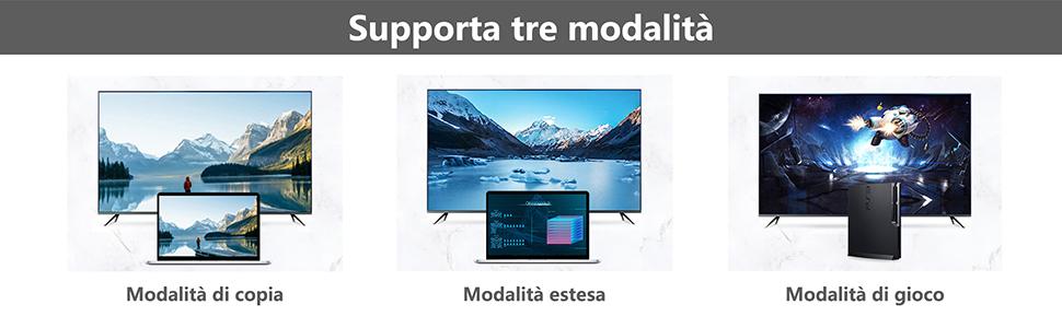 Supporta 3 modalità