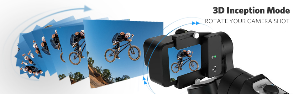 3 Axis Gimbal Stabilizer for GoPro 8 Action Camera Handheld Tripod with Inception sports mode