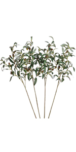 Artificial Olive Branches with Fruits