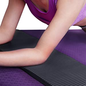 HDE Yoga Knee Pad Cushion 15mm Thick Anti-Slip Workout Mat for Yoga Pilates Fitness and Exercise Pressure Point Relief Pain Free 24