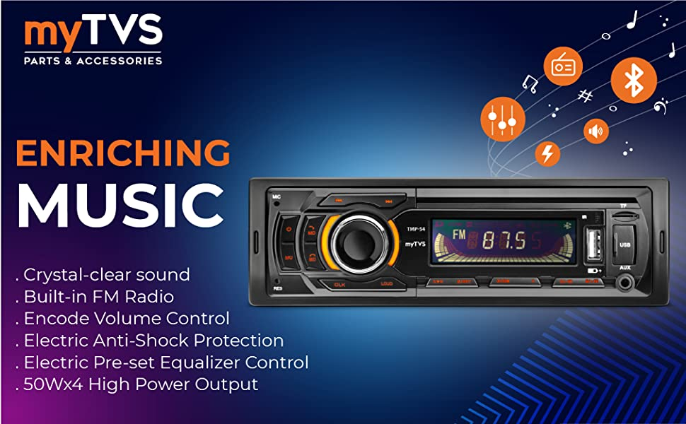 single din stereo with bluetooth