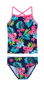 Girls Sling Sleeve Swimsuit