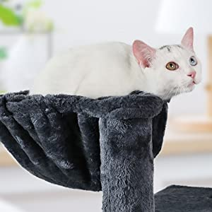 cat post condo tower wood kitty scratcher climber frame 5 tier hotel jungle gym castle tower