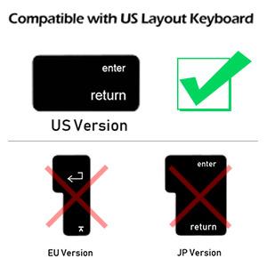 Keyboard Cover for Apple Wireless Magic Keyboard(2nd Generation) Model MLA22LL/A A1644