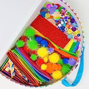 inside the rainbow craft kit