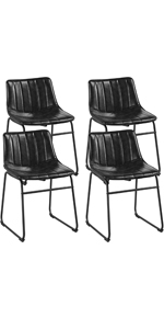 Yaheetech Leather Dining Chairs