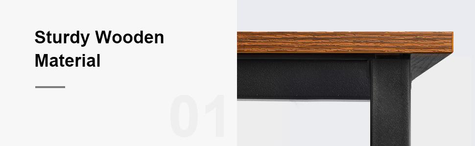 wooden material office desk
