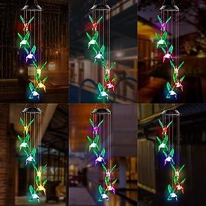 solar chimes string lights