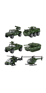 6 Pcs Diecast Military Toy Vehicles -1