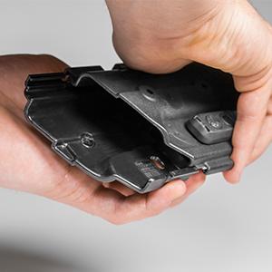 shell custom fit slide toolless sturdy locking trigger guard full adjust retention simple modular