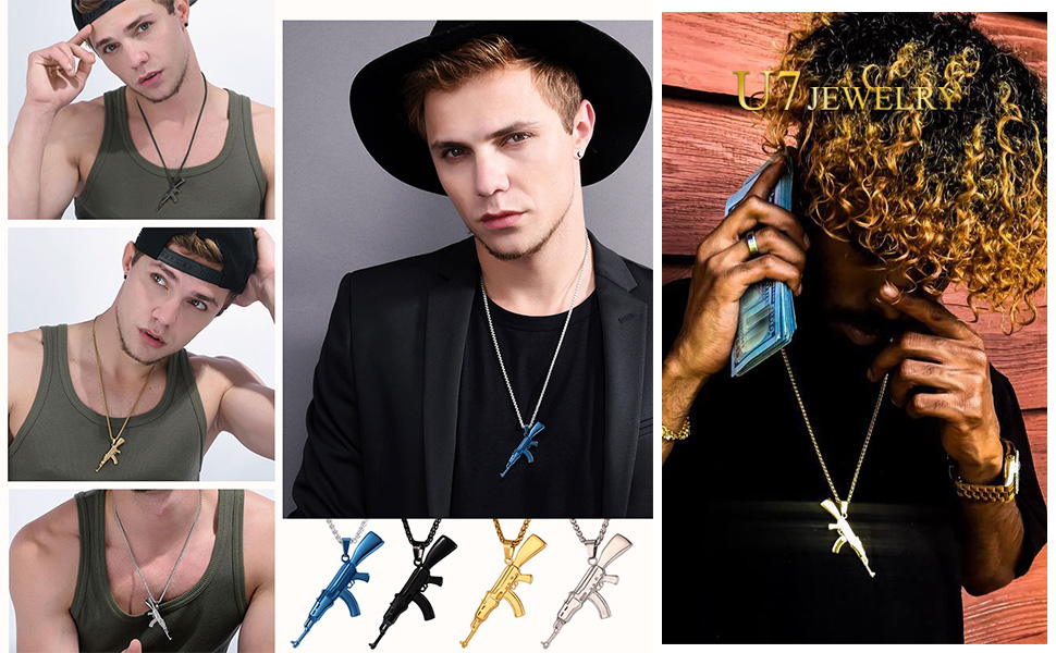 Cool necklace punk hip hop jewelry