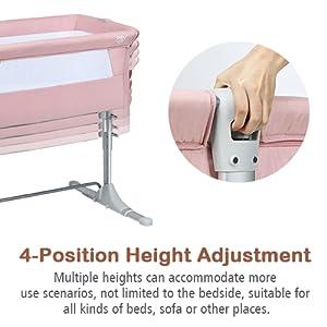4 position height adjustable