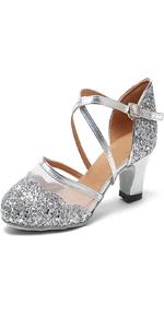 silver dance shoes women