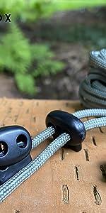 Cerradura de Cable Wandefol 60pcs Cierre de Cord/ón Cierre de Cuerda Cierre de Cord/ón con Resorte Tope de Cord/ón L//M//S Negro para Camping Deportes Mochilas Repuesto de Cord/ón de Zapatos