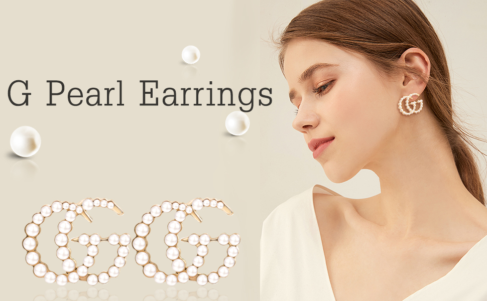 G Earrings Initial Letter Earrings