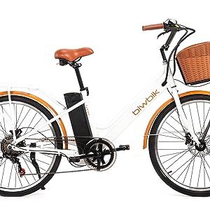 Biwbik Bicicleta Electrica Mod Gante Bateria Ion Litio 36v12ah Gante White Hd Amazon Es Deportes Y Aire Libre